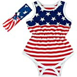 Hollyhorse 4th of July Newborn Baby Boys & Girls Rompers   USA Flag Shirt Clothes