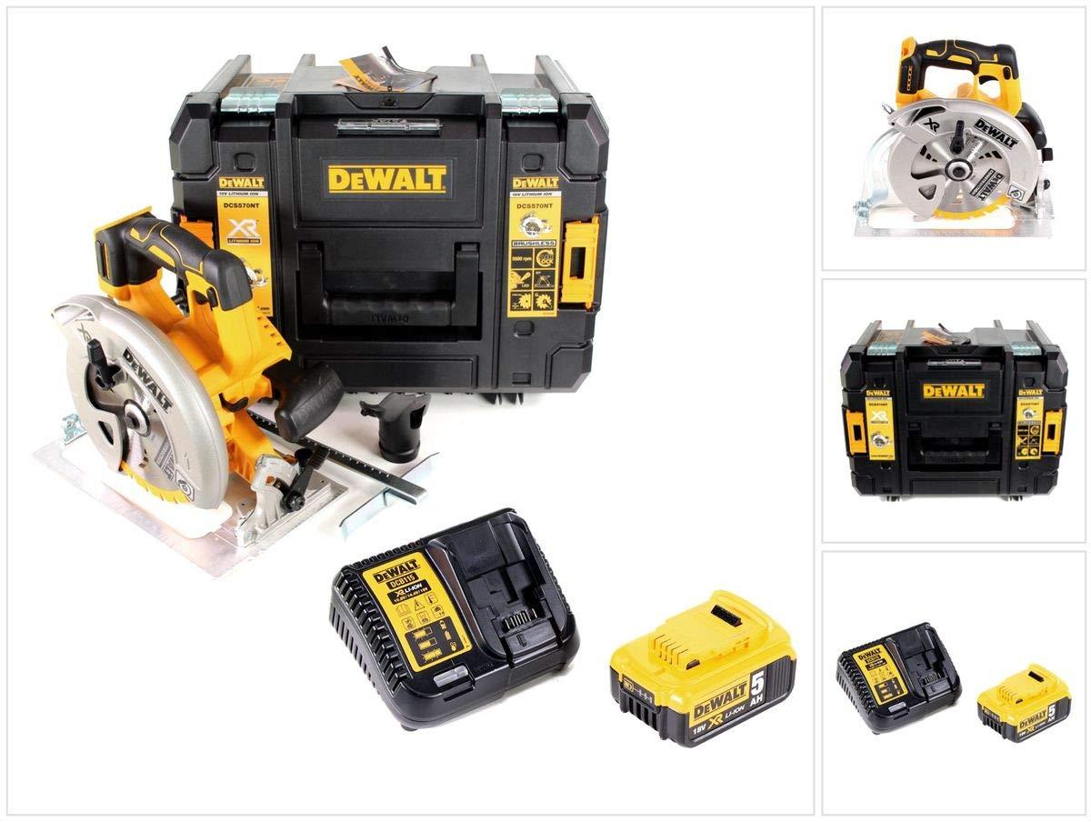 DeWalt DCS 570 P1 18 V Brushless batería Sierra circular de mano ...
