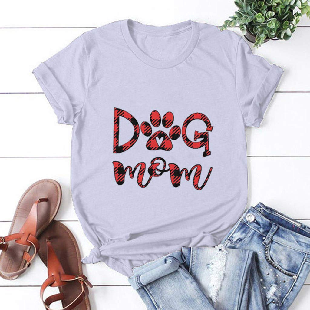 Valentines Day Heart Printed Blouses Casual Short Sleeve T-Shirt Cute Letter Tops for Women