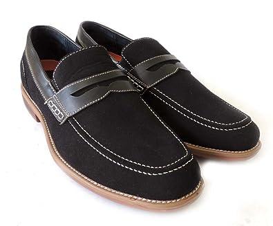 5f0d1c31640 Delli Aldo Men s M19251 Black Loafer 7