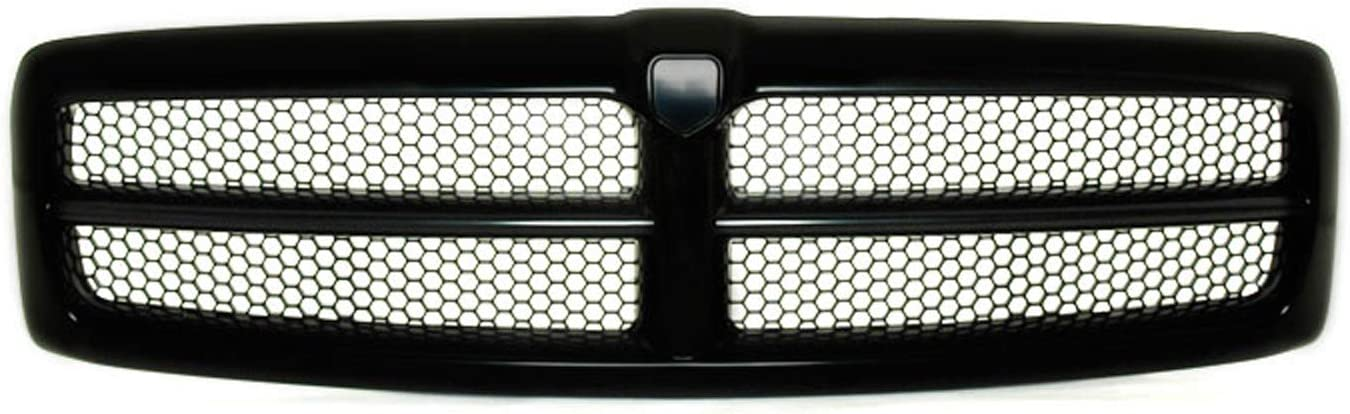 HEADLIGHTSDEPOT Front Grille Matte Black Honeycomb Black Frame ...