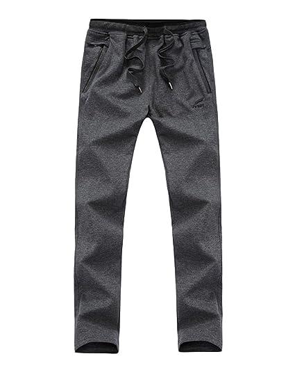 Homme Coton mélangé Pantalons de survêtement Grande Taille Pantalon de  Jogging Pantalon à Jambe Longue Gris c5ebe232f3d7
