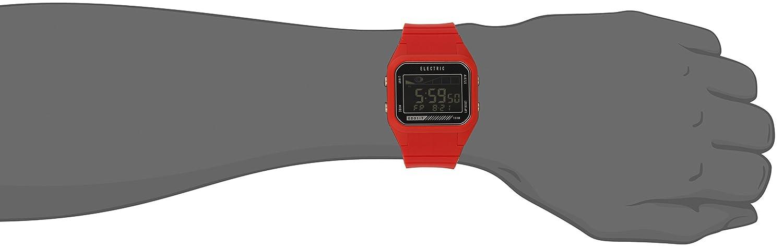 Amazon.com: Electric Unisex EW0120030073 ED01 TIDE Digital Display Japanese Quartz Red Watch: Watches
