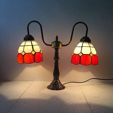 Tiffany estilo lámpara LED de mesa Vidriera decoración ...