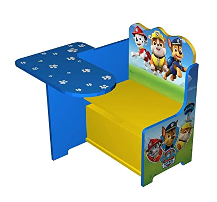 Wondrous Paw Patrol Wooden Kids Work Bench Storage Table Chair Seat Set Everest Chase Marshall Skye Rocky Zuma Workstation Homework Pdpeps Interior Chair Design Pdpepsorg