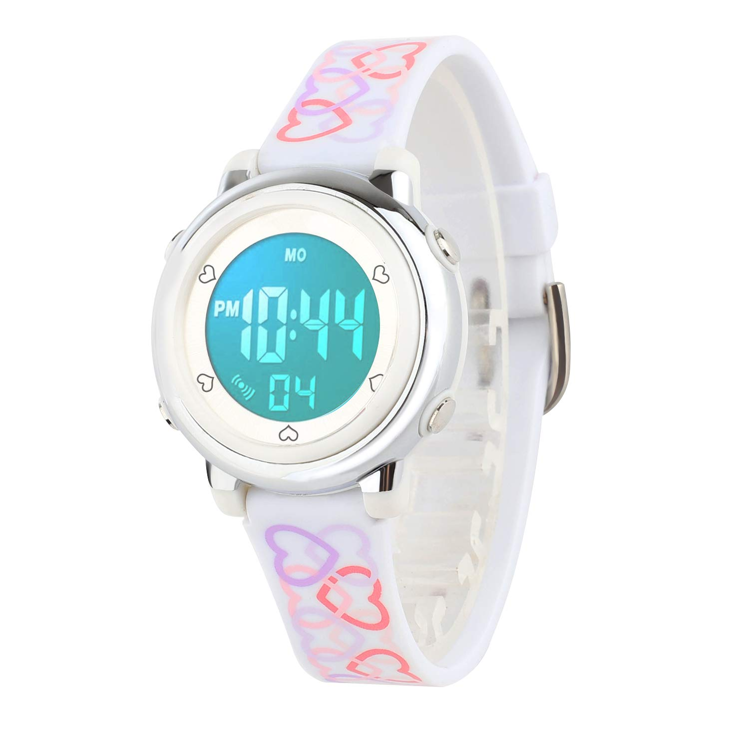 Kids Digital Watch, Boys Sports Waterproof Led Watches Kids Watches with Alarm Wrist Watches for Boy Girls Children White by Wdnba