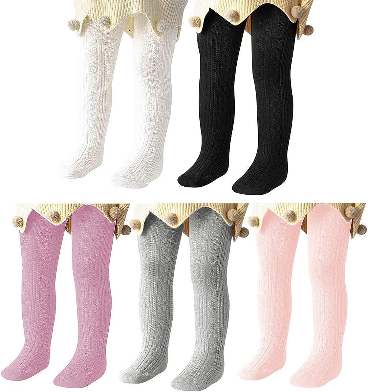 Century Star Medias de bebé para niñas de algodón suave para niños Leggings de punto sólido calcetines cálidos calcetines recién nacidos
