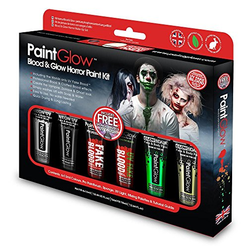 Paint Glow Blood & Horror Paint Kit Halloween Make Up Scary Spooky