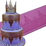 JUMUU Large Silicone Cake Lace Mat Cake Decoration Sugar Craft Tools of Bakeware- Ophelia Lace Mat