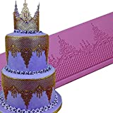 JUMUU Large Silicone Cake Lace Mat Cake Decoration Sugar Craft Tools of Bakeware- Ophelia Lace Mat