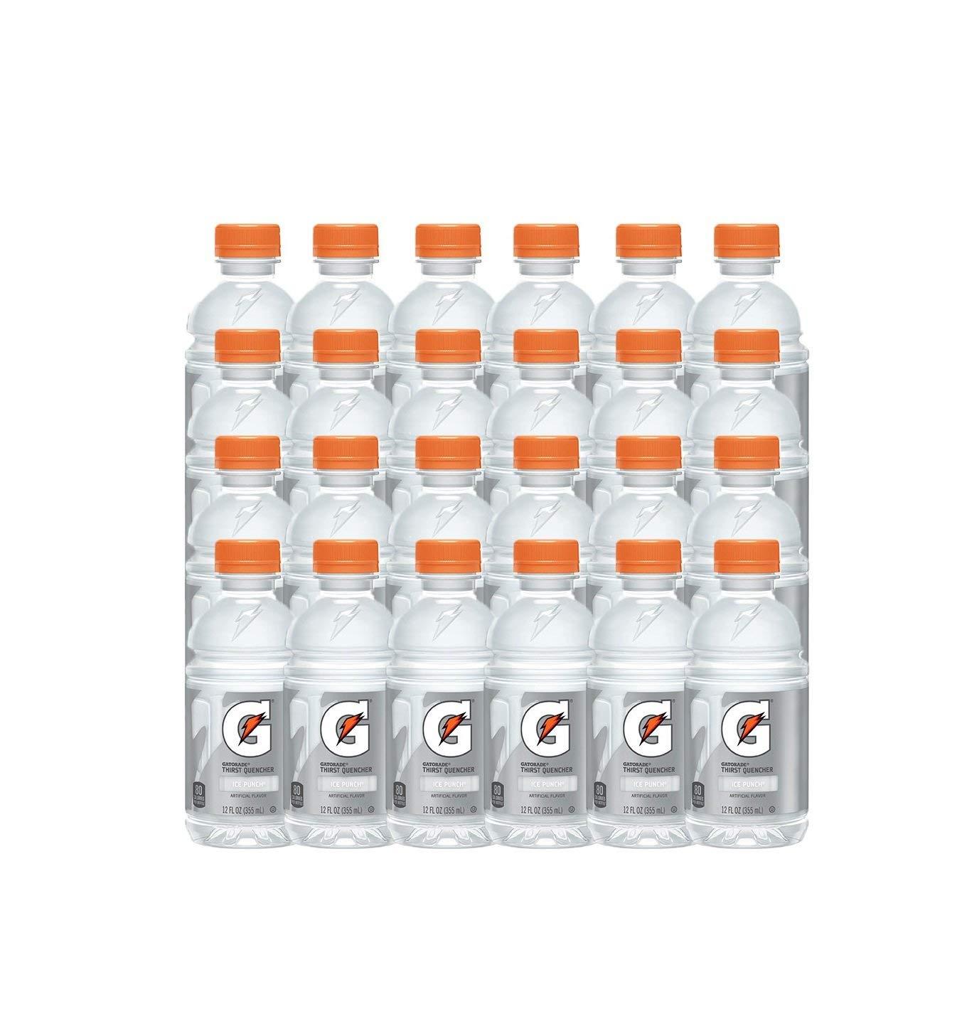 Gatorade Thirst Quencher, Ice Punch, 12 oz Bottles, 24 Count