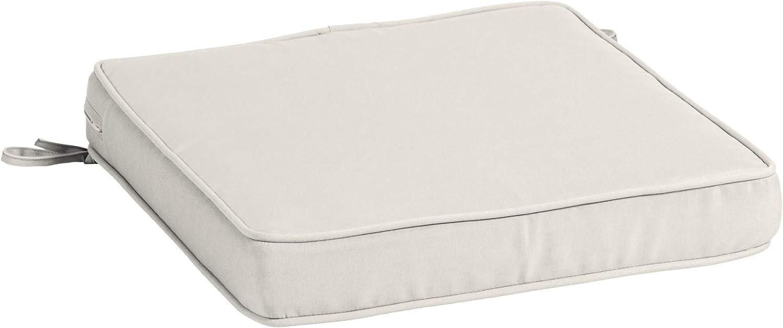 Arden Selections Profoam Evertru Acrylic 20 X 20 X 3 5 Inch Outdoor Dining Chair Cushion Sand Cream Garden Outdoor
