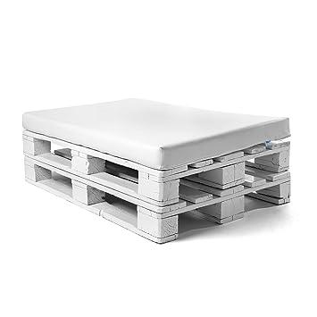 SUENOSZZZ - Colchoneta para Sofas de Palet (1 x Unidad) Cojin de Jardin. Color Blanco | Cojines para Chill out, Interior y Exterior, Jardin | No ...