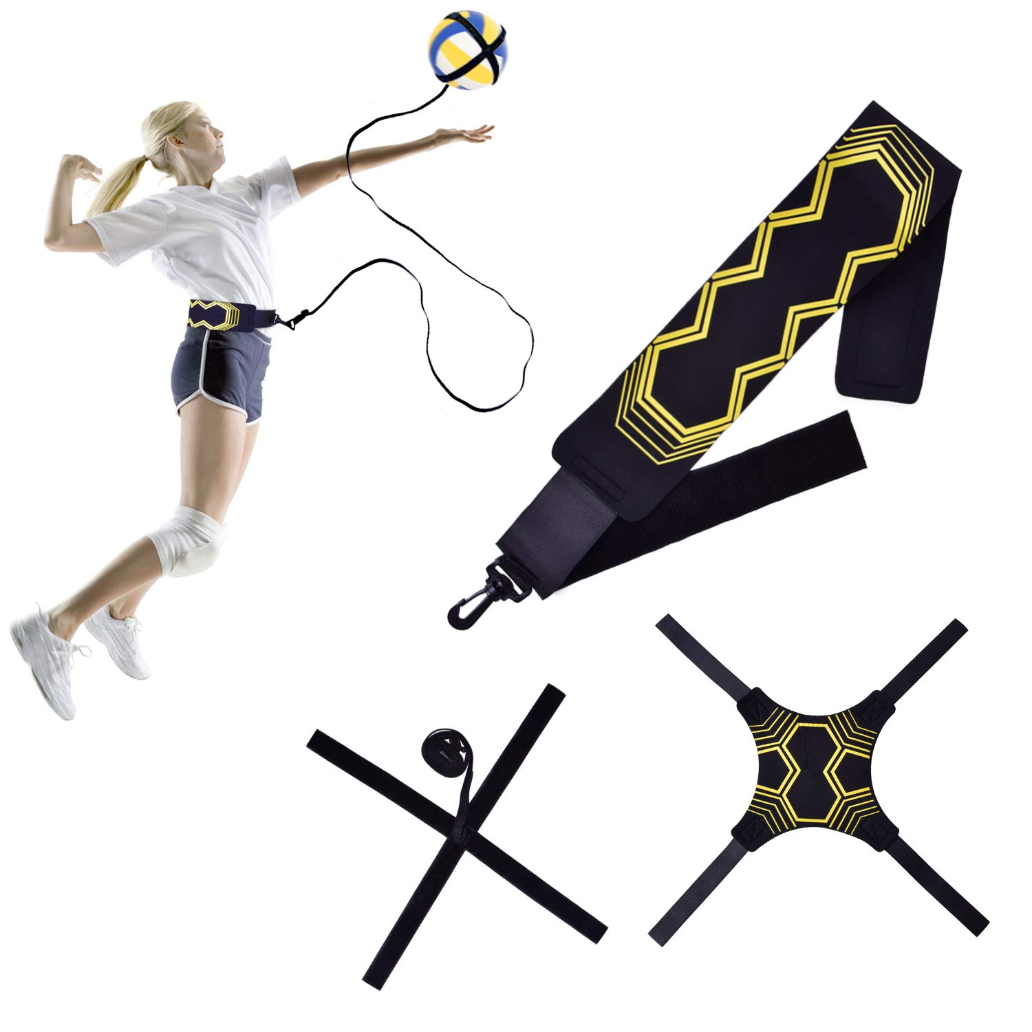 U-picks Volleyball Training Aids,Spiker Tether Equipment for New Beginner and Experts