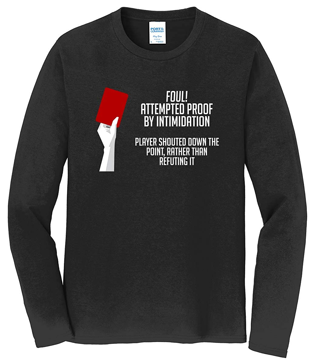 Tenacitee Mens Proof by Intimidation Logical Fallacy T-Shirt