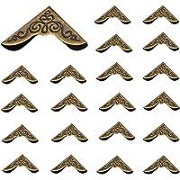 100 Stks Antieke Stijl Hoek Beschermers Meubels Decoratieve Rand Cover voor Decoratieve Kast Sieraden Doos