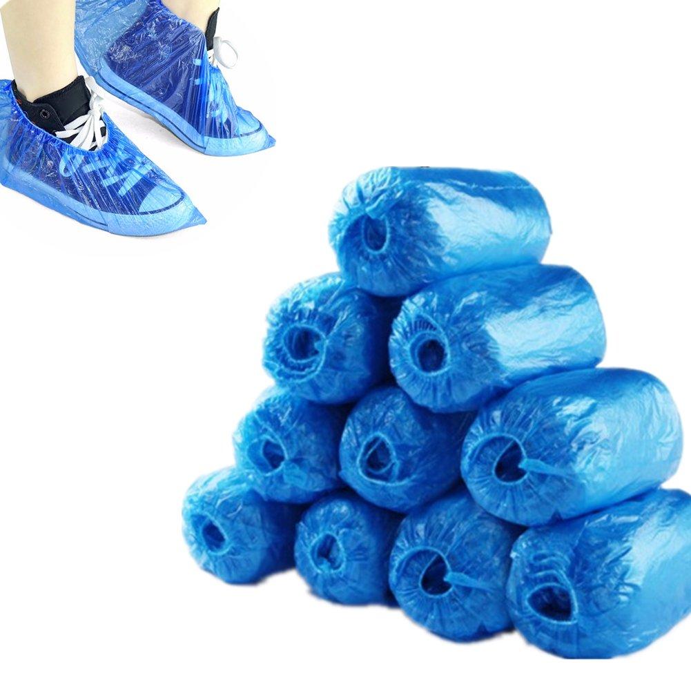 Toruiwa 100x Surchaussures Jetables Couvre Protection Chaussures Chaussures en Plastique