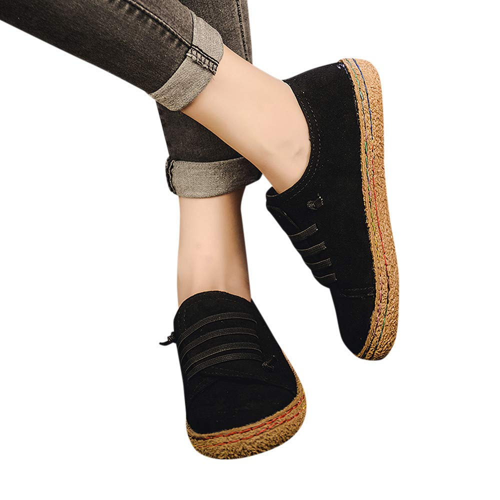 626b0a58f45ea Sunhusing Women Ladies Soft Flat Ankle Single Shoes Female Suede ...