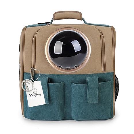 Yoome Mochila Grande con capsulas espaciales, Transpirable, para Mascotas, Gatos, Perros,