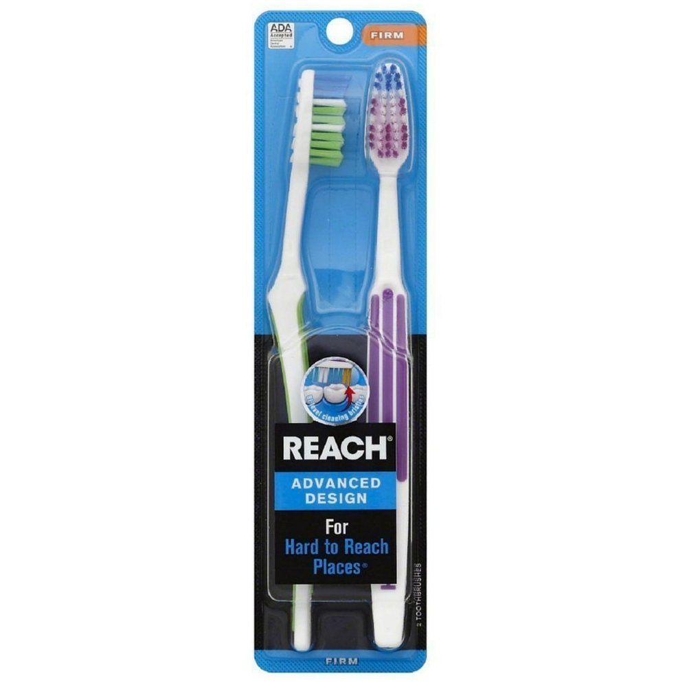 REACH Advanced Design Toothbrushes Soft Full Head Value Pack 2 ea (Pack of 5)