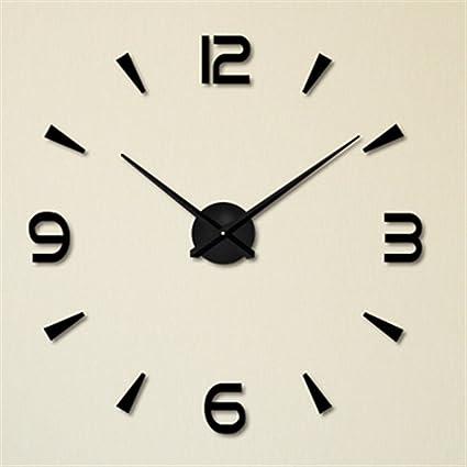 FAS1 Moderno DIY Reloj De Pared Grande Big Reloj Adhesivo 3D Pegatinas Decorativas Efecto De Espejo