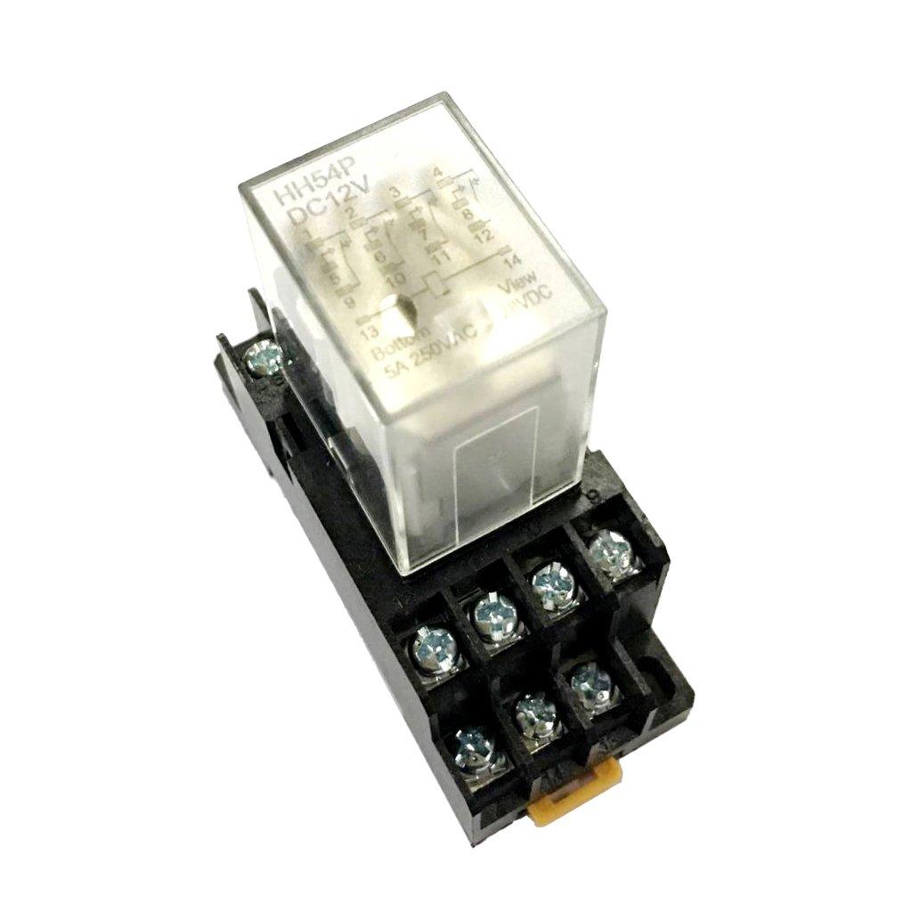 Sharplace Lampe Relais De Puissance AC 220 V Bobine De Tension 4pdt avec Base - #2