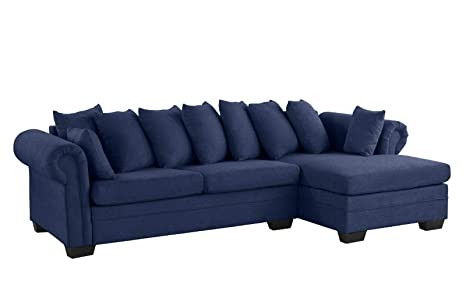 Amazon.com: Rabinyod Bulan Navy Blue Modern Large Fabric ...