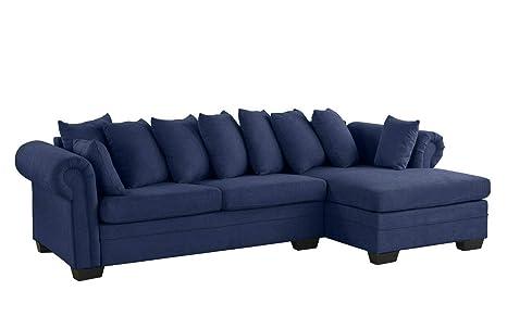 Astounding Amazon Com Rabinyod Bulan Navy Blue Modern Large Fabric Inzonedesignstudio Interior Chair Design Inzonedesignstudiocom