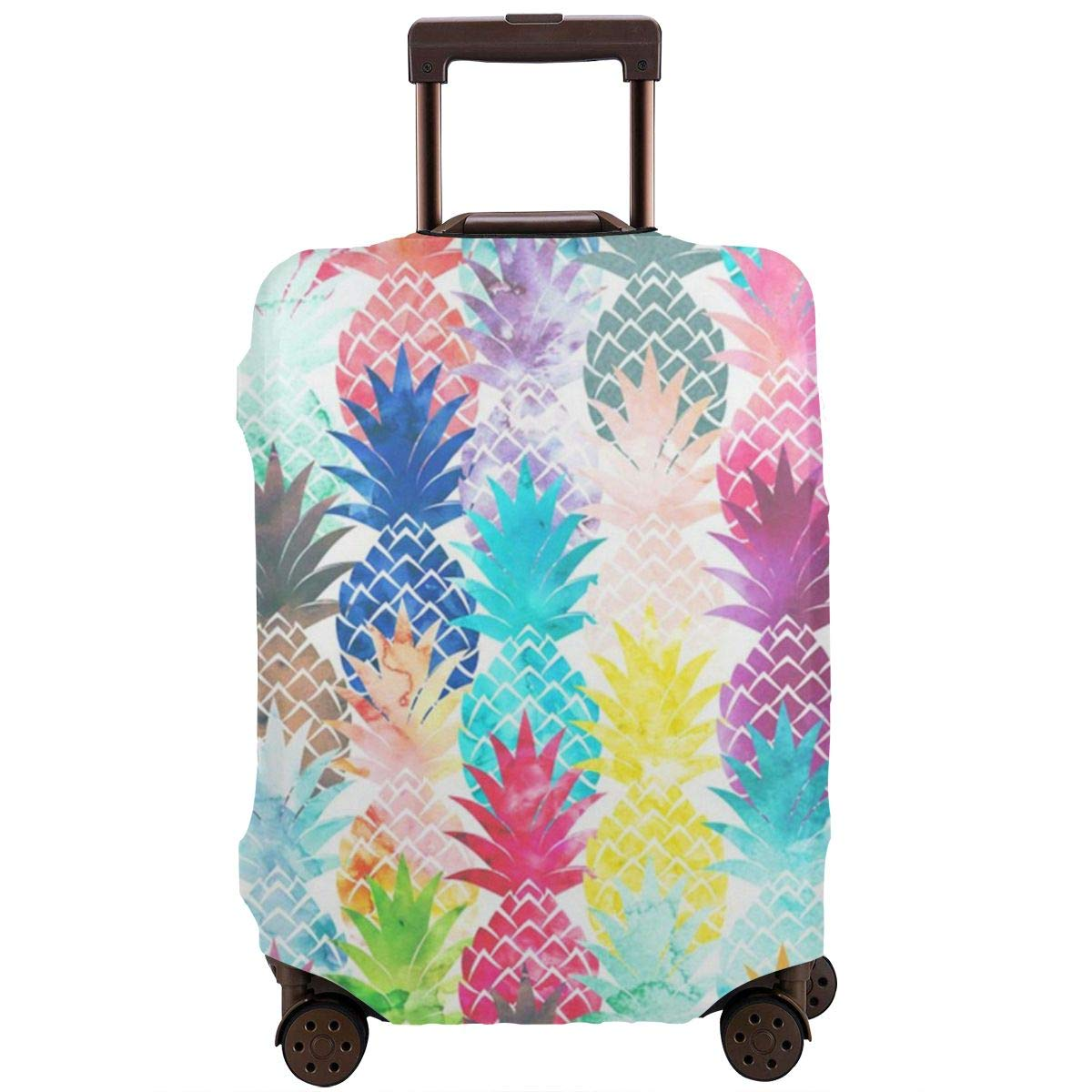 Luggage Cover Hawaiian Tropical Pineapple Watercolor Print Protective Travel Trunk Case Elastic Luggage Suitcase Protector Cover