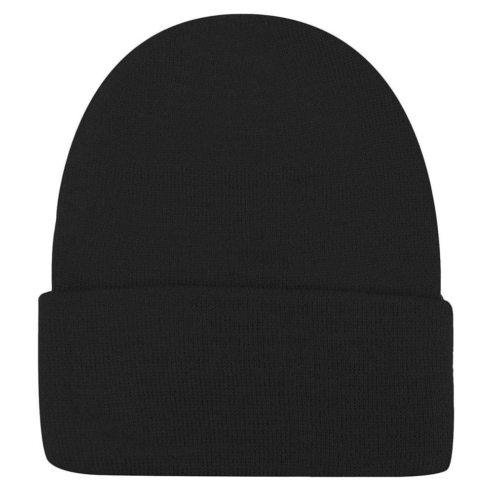 Weixinbuy Unisex Women Warm Plain Beanie Hats Slouchy Cap Black
