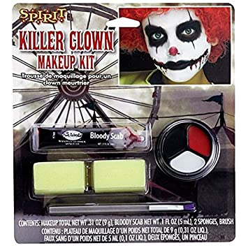 fancy face paint color halloween kids scary clown makeup kit
