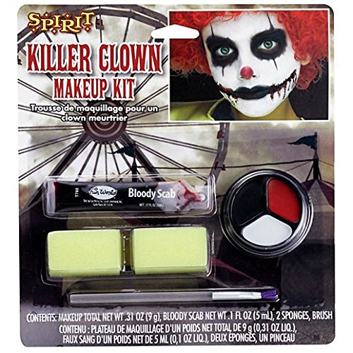 Fancy Face Paint Color Halloween Kids Scary Clown Makeup Kit]()