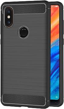 AICEK Funda Xiaomi Mi Mix 2S, Negro Silicona Fundas para Xiaomi ...