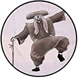 Printing Round Rug,Kabuki Mask Decoration,Orient Style Artist with Makeup and Costume Pose Dance Ancient Art Decorative Mat Non-Slip Soft Entrance Mat Door Floor Rug Area Rug For Chair Living Room,Umb