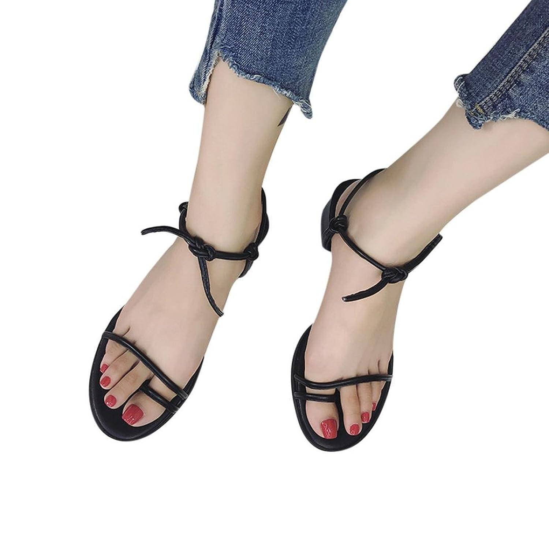 047682af De alta calidad OHQ Zapatos para Mujeres Sandalias Romanas Planas con TacóN  Grueso Y Plano De