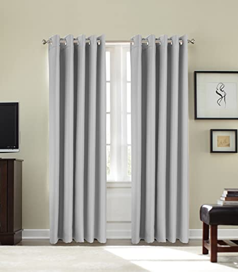 GoldstarR Thermal Blackout Curtains Eyelet Ring Top Ready Made Pair Insulation 46quot