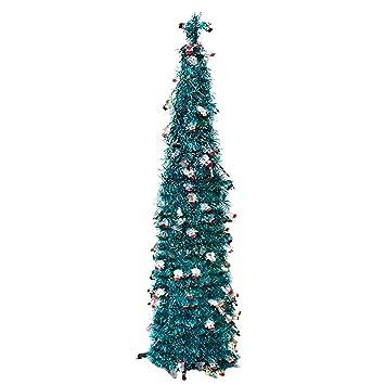 Amazon.com FunPa 4.92FT Pop up Tinsel Tree Christmas Candy