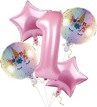 Amazon.com: Patimate 1er cumpleaños niña Decoraciones, Bebé ...