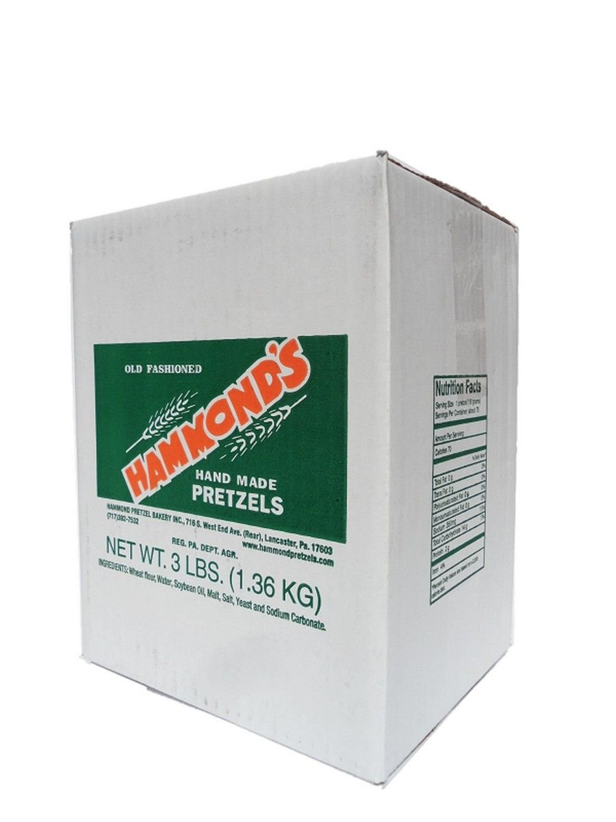 Hammond's Old-Fashioned Hand Made Pretzels, 3 Lb. Box