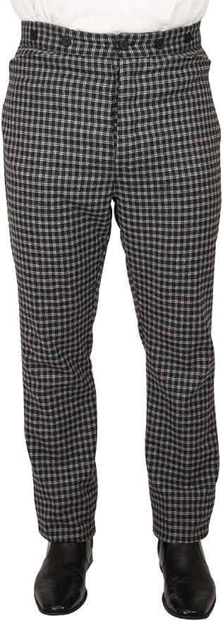 Men's Steampunk Pants & Trousers Historical Emporium Mens Plaid Mosley Dress Trousers $71.95 AT vintagedancer.com