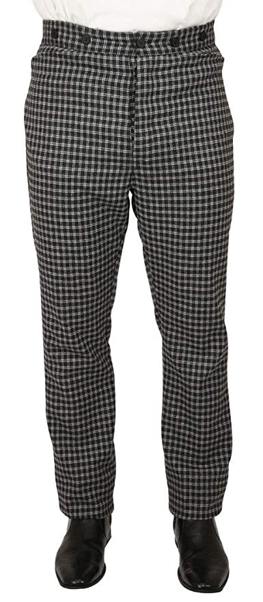 Victorian Men's Pants – Victorian Steampunk Men's Clothing Historical Emporium Mens Plaid Mosley Dress Trousers $64.95 AT vintagedancer.com
