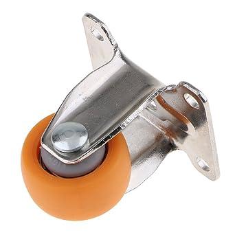 Homyl Ruedas fijas de 2,54 cm, rueda de nailon resistente con placa superior