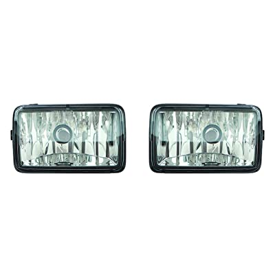 For Ford F150 2015 2016 2020 2020 Foglight Assembly Pair Driver and Passenger Side (CAPA Certified) FO2592235, FO2593235 - For Regular, Crew, and Extended Cab: Automotive