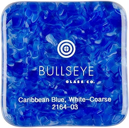 Made from Bullseye Glass 90COE 4oz New Hampshire Craftworks Caribbean Blue Transparent /& White Opalescent 2-Color Mix Coarse Frit