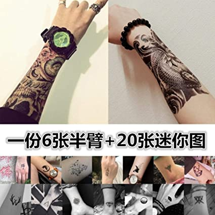 Pegatinas de tatuaje impermeables para hombres y mujeres duraderos ...