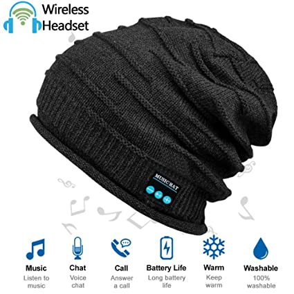 af94265c459 HighTechLife Upgraded Wireless Bluetooth Beanie Hat Headphones V4.2 Unique  Tech Gifts for Girlfriend Wife Women Men Husband Boyfriend w Built-in HD  Stereo ...