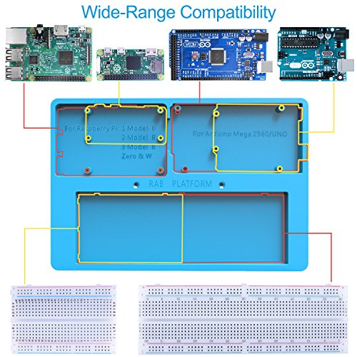 UNIROI for Arduino Starter Kit, Complete Electronic Kit for Arduino with  Detailed Tutorials, RAB Holder, Breadboard for Arduino UNOR3 Mega 2560  Robot