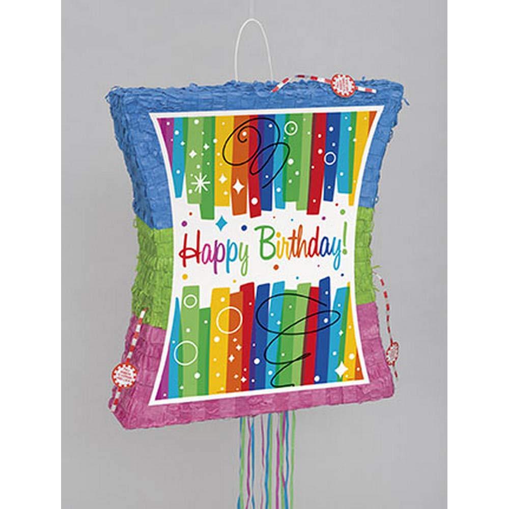 Rainbow Birthday Pinata, Pull String