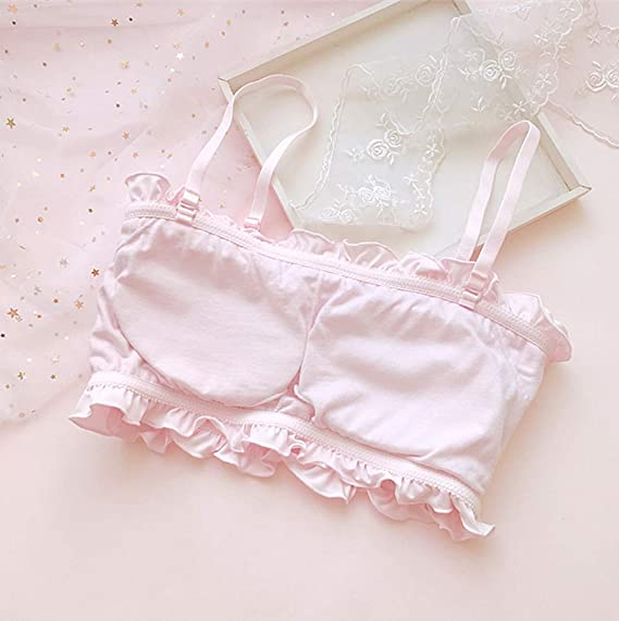 12d9e9b3e5b Amazon.com  YOMORIO Girls Cute Bra Panty Set Lolita Anime Cosplay Lingerie  Kawaii Japanese Underwear (Pink)  Clothing
