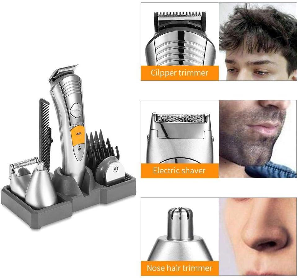 Beard Trimmer Hair Clipper, 6-en-1 Kit de aseo de cortes de pelo ...